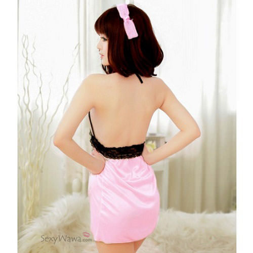 Pink Sexy Babydoll with T-back BD053PK