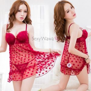 Red Sexy Babydoll with T-back BD055RD