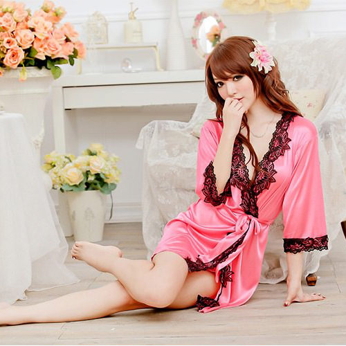 Rose Sexy Pyjamas with T-back PJ002RS