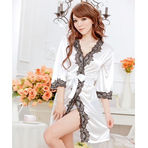 White Sexy Pyjamas with T-back PJ002WH
