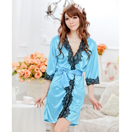 Blue Sexy Pyjamas with T-back PJ002BL