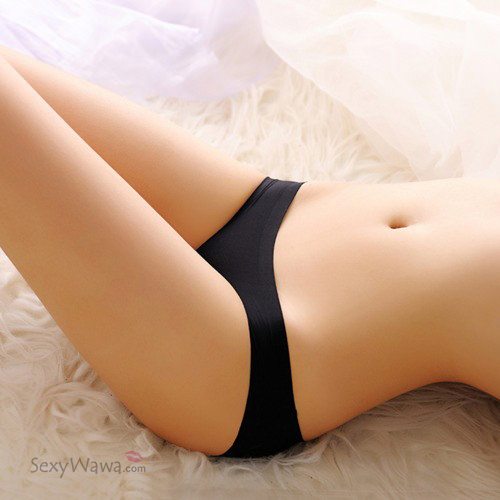 Black Ice Silk Sexy Panties G-String GS030BK