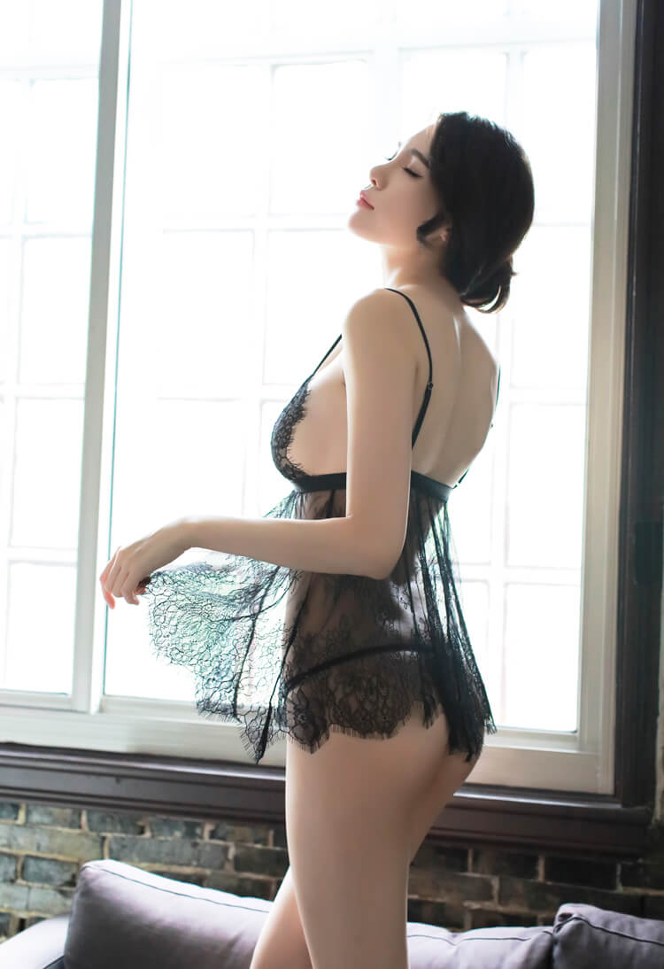 Slips Lace Sexy Babydoll With Panties BD060BK