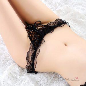 Sexy Leopard Open Crotch Panties OC011BW