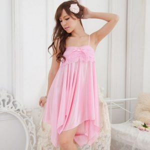 Pink Sexy Babydoll with T-back BD013PK