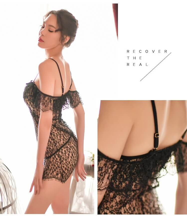 Sexy Babydoll with T-back BD021BK