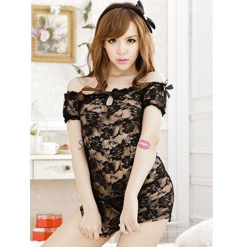 Sexy Babydoll with T-back BD020BK