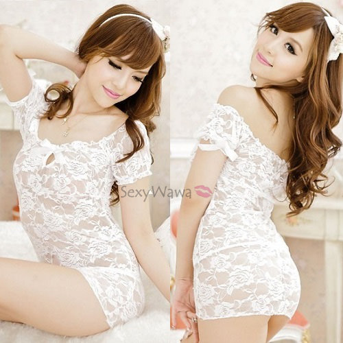 Sexy Babydoll with T-back BD020WH