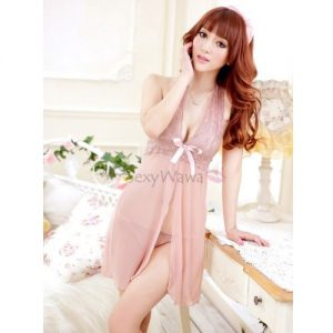 Halter Style Sexy Babydoll with T-back BD022