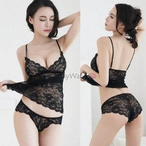 Sexy Camisole With Panties CM002BK