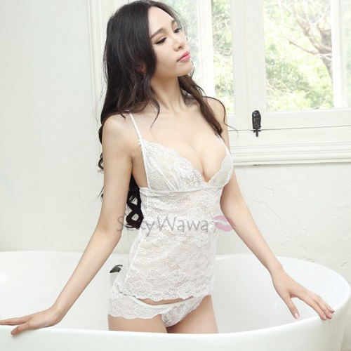 Sexy Camisole With Panties CM002WH