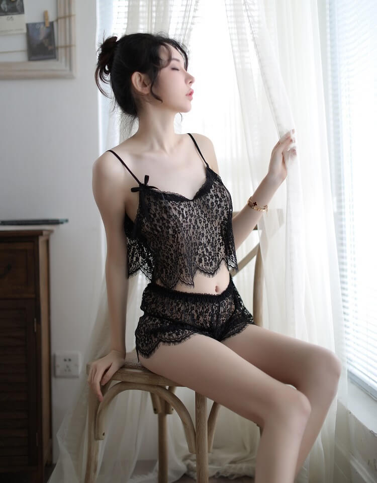 Sexy Camisole With Panties CM003BK