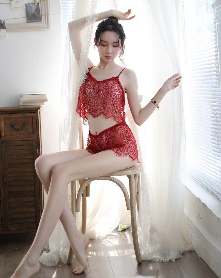 Sexy Camisole With Panties CM003RD