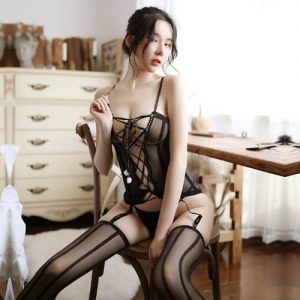 Sexy Black Body Stocking SKB008