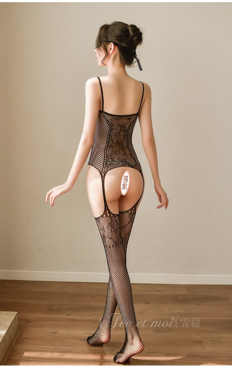 Sexy Black Fishnet Body Stocking SKB012