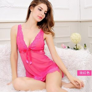 Rose Transparent Flowerly Sexy Babydoll BD044RS