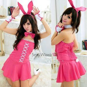 Pink Dress Bunny Rabbit Costume AN011