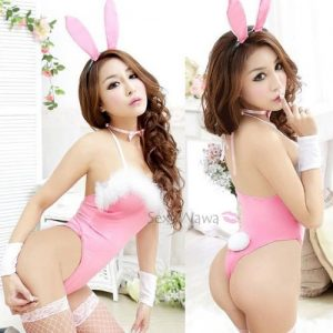 Sexy Pink Bunny Rabbit Costume AN005PK