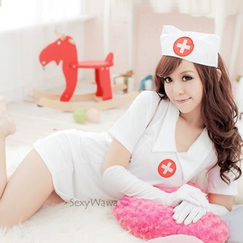 Sexy Nurse Suit With Gloves NS006