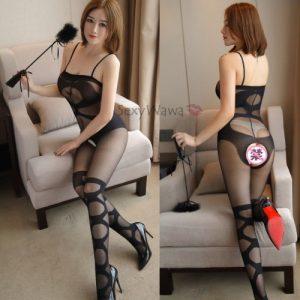 Sexy Siamese Open Crotch Body Stocking SKB028