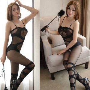 Sexy Siamese Open Crotch Body Stocking SKB028
