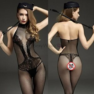Sexy Siamese Transparent Fishnet Body Stocking SKB030