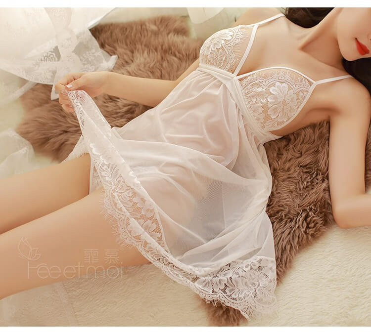 Sexy Babydoll with T-back BD061WH
