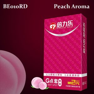 BE010RD Dotted Condom ( Peach Aroma ))
