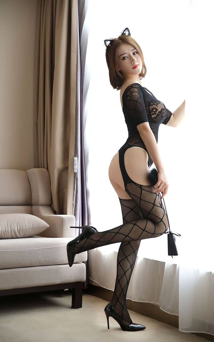Sexy Black Fishnet Body Stocking SKB010