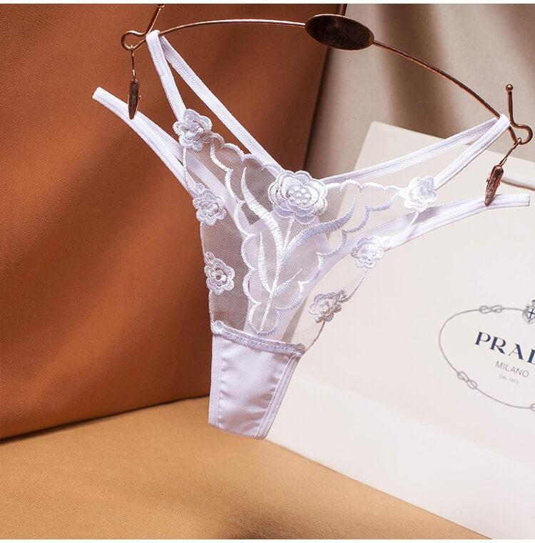Sexy Panties Low Waist Thong TB040WH