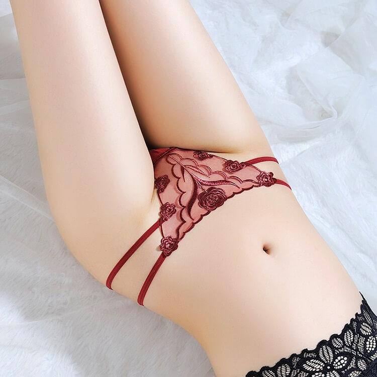 Sexy Panties Low Waist Thong TB040WRD