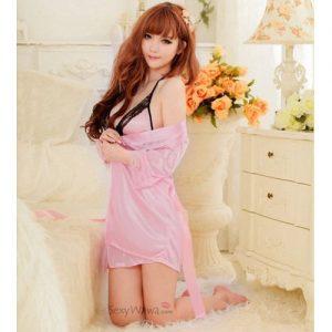 Pink Sexy Pyjamas with Babydoll PJ013PK