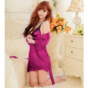 Purple Sexy Pyjamas with Babydoll PJ013PP