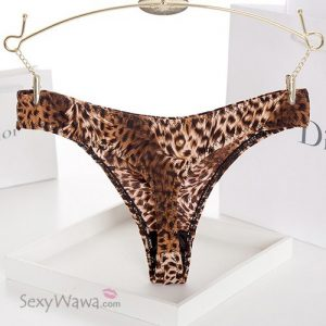 Seamless Leopard Low Waist Thong TB026-Back View