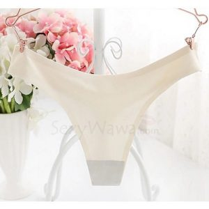 White Ice Silk Low Waist Thong A7117WH