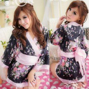 Sakura Japanese Sexy Kimono Pyjamas KM006