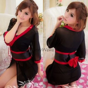 Japanese Sexy Kimono Pyjamas KM008BK