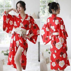 Long Japanese Sexy Kimono KM017