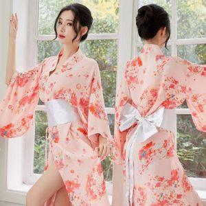 Long Japanese Sexy Kimono KM018