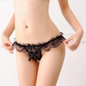 Sexy Open Crotch Panties OC015BK