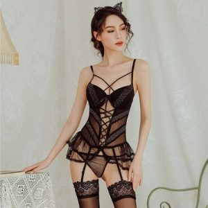 Sexy Corset with Garter Belts SC026