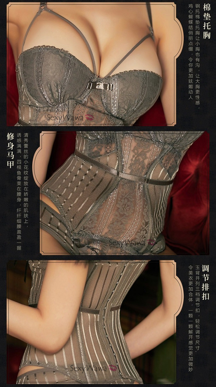 Sexy Corset with Garter Belts SC027GY