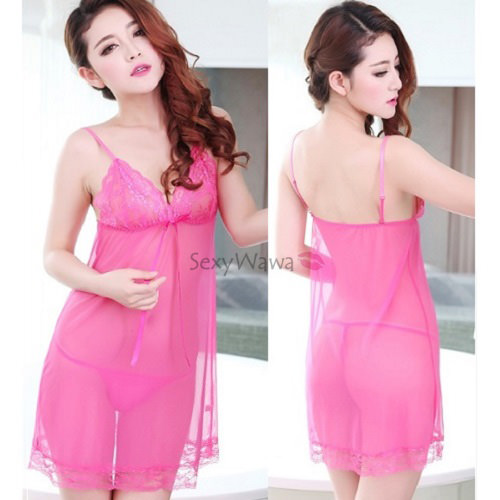 Rose Sexy Babydoll BD048RS