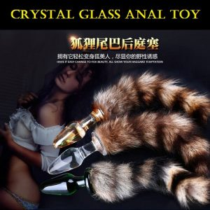 Fox Tail Crystal Glass Anal Toy