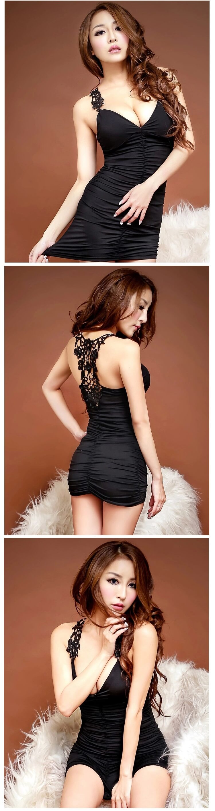 Temptation Nightclub Dress NC006BK