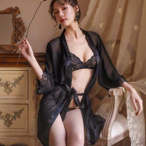 Sexy Pyjamas with Bikini Set PJ016BK