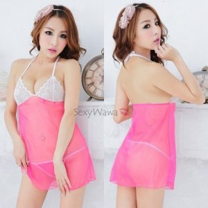 Halter Style Transparent Sexy Babydoll BD066RS