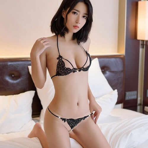 Sexy Lace Bikini Top Bra & Panties BK024BK