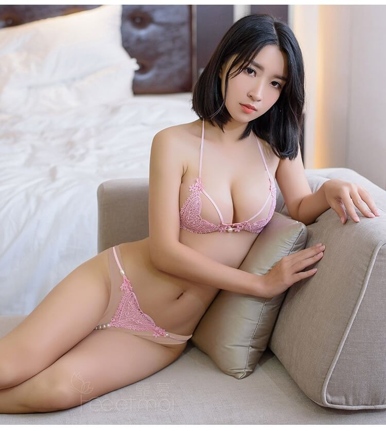 Sexy Lace Bikini Top Bra & Panties BK024PK