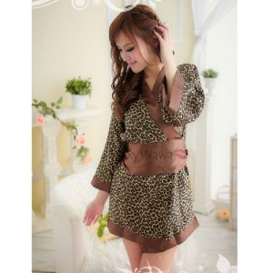 Japanese-style Leopard Kimono Pyjamas KM004